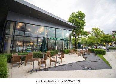 Bangkok, Thailand - June 24 2017 : Starbucks Coffee is an American coffee shops. This branch is located in CDC shopping malls in Bangkok, Thailand.