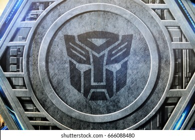 Bangkok, Thailand - June 24, 2017: Logo Autobot from Movie Transformers 5: The Last Knight