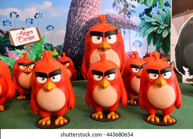 "Bangkok, Thailand - June 25, 2016: The Human Size ""Red"" Angry Birds Model To Promote The Movie"