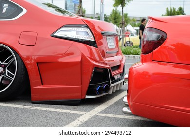 Bangkok, Thailand - June 27, 2015 : VIP car Thailand car show in the VIP style mag. meeting no.1 at the Bangna, Bangkok. This a open event no need press credentials required.
