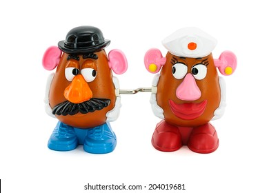 BANGKOK, THAILAND - June 28, 2014 : Potato Head toy character from Toy Story movie. There are toy sold as part of McDonald HappyMeal toy.