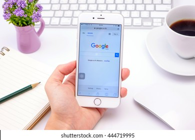 BANGKOK, THAILAND - JUNE 29, 2016: Google is an American multinational corporation specializing in Internet-related services and products. Most of its profits are derived from AdWords.