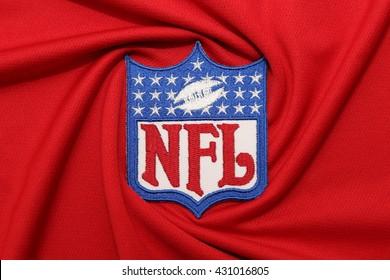 BANGKOK, THAILAND -JUNE 3, 2016: The  Logo of  NFL on the textile on June 3,2016 in Bangkok Thailand.