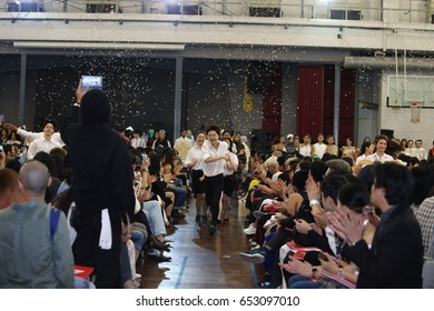 "Bangkok, Thailand - June 4, 2017 Thesis Fashion Show FASH17  ""The Graduate Fashion Presentation SRINAKHARINWIROT University (SWU) at Stadium"