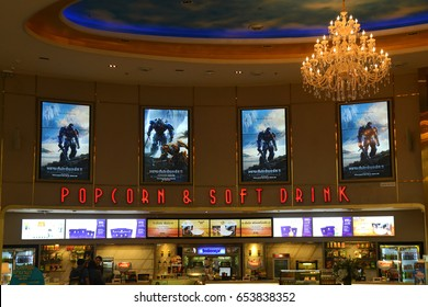 Bangkok, Thailand - June 4, 2017: Beautiful Poster of Movie Transformers: The Last Knight displays at the theater