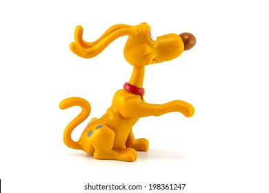 BANGKOK, THAILAND - June 9, 2014 : Spike dog figure toy character in the series of Rugrats animated.