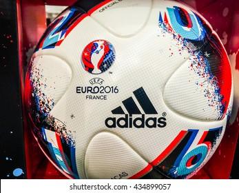 BANGKOK, THAILAND - June 9, 2016: Adidas BEAU JEU official Match Ball for the UEFA EURO 2016 football tournament in France