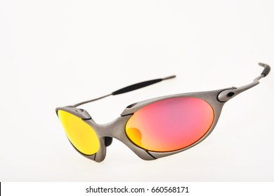 Bangkok Thailand -June 9, 2017:Oakley X-metal romeo1 sunglasses developed with extensive athlete input and testing in the field including extreme conditions.Oakley was started by James Jannard in 1975