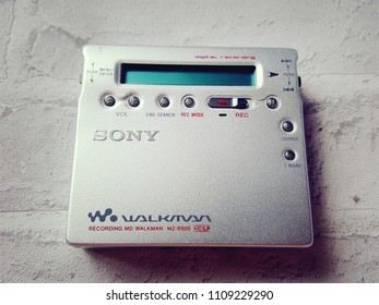 BANGKOK, THAILAND - JUNE 9,2018: Sony Walkman  From Sony Company Made in Japan.