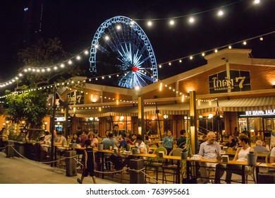 Bangkok, Thailand- Mar 19 :Asiatique The Riverfront is a large open-air mall in Charoen Krung Road on Mar 19, 2017 in Bangkok , Thailand