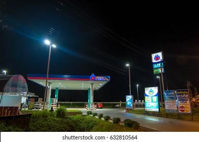 Bangkok, Thailand March 03, 2017 Gas pump in Thailand