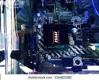 Computer Processor Circuit Water Images, Stock Photos