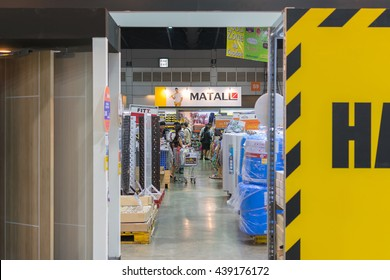 Bangkok, Thailand - March 15, 2016 : Exhibit hall home expo and hardware tools for home and garden in Bangkok Thailand.