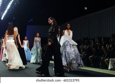 """Bangkok, Thailand - March 15, 2017 ; Fashion Show New collection """"SIRIVANNAVARI"""" and """"S'Homme Spring//Summer 2017"""" at Royal Paragon Hall, from Princess Sirivannavari Nariratana of Thailand"""
