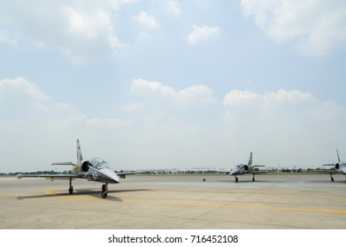 Bangkok, Thailand, March 21, 2013: BREITLING air show, at the Royal Thai Air Force base in bangkok , Thailand.