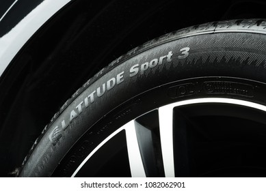 BANGKOK, THAILAND – MARCH, 22 2018:  Michelin Latitude Sport 3, high-performance SUV tires from Michelin