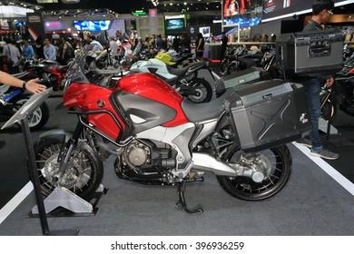 BANGKOK, THAILAND - MARCH 22 : Honda motorcycle displayed at Thailand 37th International Motorshow 2016 Arina, Muangthong Thani, on March 22, 2016. Bangkok, Thailand.