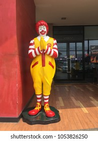 BANGKOK, THAILAND - MARCH 25, 2018: A unique McDonald's image decoration is widely found in Thailand.