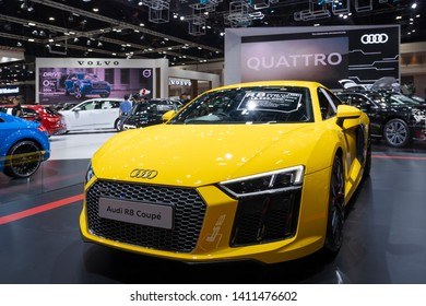 BANGKOK, THAILAND – March 26, 2019 : Audi R8 Coupe V10 on display 40th Thailand International Motor Show in IMPACT exhibition Muangthong Thani Bangkok, Thailand