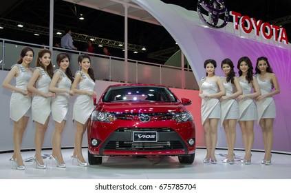 Bangkok, Thailand - March 29, 2013: Toyota Vios new models presented in Bangkok Motor Show 2013