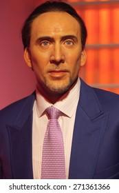 BANGKOK THAILAND - MARCH 5, 2015: Nicolas Cage waxwork figure -Madame Tussauds Siam discovery