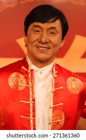 BANGKOK THAILAND - MARCH 5, 2015:Jackie Chan waxwork figure -Madame Tussauds Siam discovery
