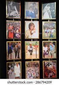 BANGKOK THAILAND - MARCH 5, 2015:Princess Diana photo exhibit Siam Discovery