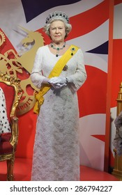 BANGKOK THAILAND - MARCH 5, 2015:Queen Elisabeth II -Madame Tussauds Siam discovery