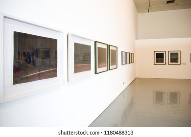 Bangkok, Thailand - March 6, 2018: An exhibition gallery in the Museum of Contemporary Art in Bangkok, Thailand