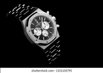 Bangkok, Thailand – March 8, 2018: Audemars Piguet, AP, Royal Oak Watch. Audemars Piguet is one of the world most renounced luxury watch brand.