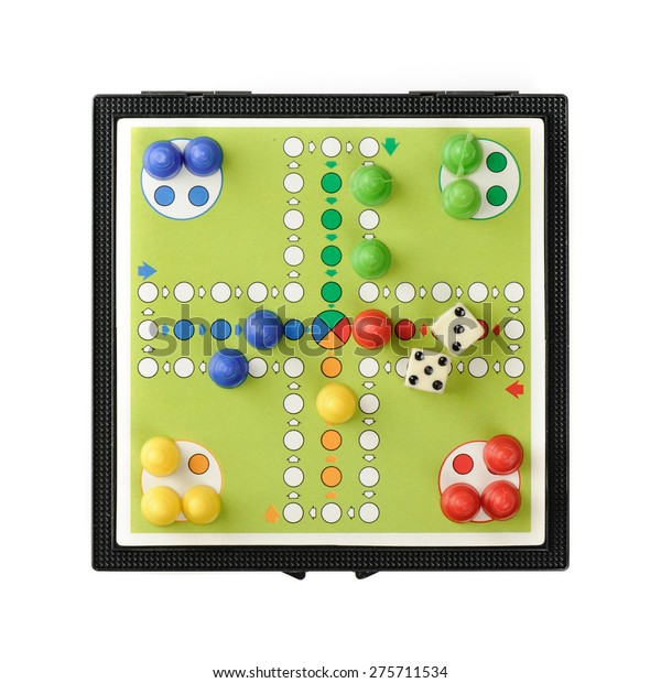 BANGKOK, THAILAND - MAY 06, 2015: Classic board game, Parcheesi or Pachisi or Ludo.