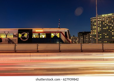 BANGKOK, THAILAND - MAY 06, 2016: BTS Sky train It is a mass transit system in Bangkok, Launched on 5 December 1999.