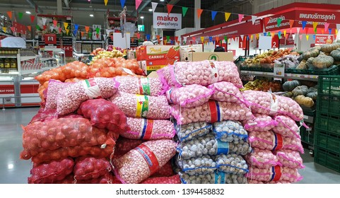 BANGKOK, THAILAND - MAY 10: Food products in Makro supermarket in Bangkok on May 10, 2019. Makro is an originally wholesale center in Thailand, also called cash and carries.
