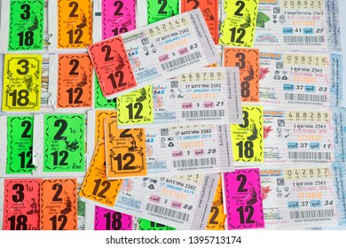 BANGKOK, THAILAND - May 12: IDEO Condo Ladprao intersection on May 12,2019 in Bangkok, Thailand. Thai Government Lottery. Popular every 1st and 16th of every month. People need to lucky and rich