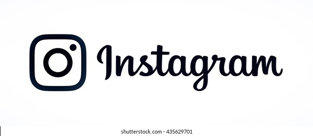 BANGKOK, THAILAND - May 14, 2016 - New Instagram logo 2016 camera icon symbolic with new design, icon. Printed on white paper. Instagram is a popular social networking for sharing photos and videos.