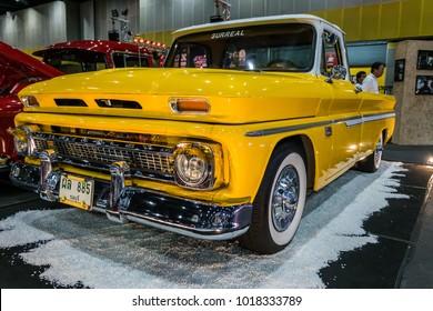 BANGKOK, THAILAND - MAY 14, 2017: The 1964 Chevrolet Apache C10 Pickup Truck  parking at the hall.
