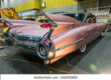 BANGKOK, THAILAND - MAY 14, 2017: The 1959 Cadillac Eldorado  parking at the hall.