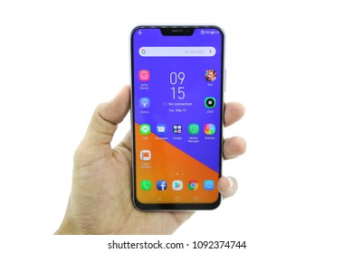 Bangkok , Thailand - MAY 15, 2018 - ASUS - Asus Zenfone5 Smartphone New Brand Of ASUS for Editorial.
