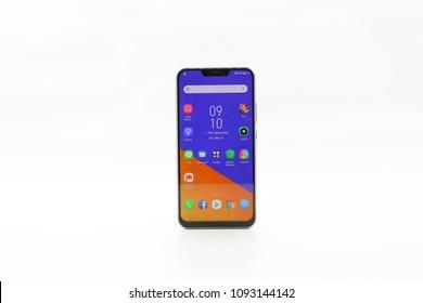 Bangkok , Thailand - MAY 15, 2018 - ASUS - Asus Zenfone5 Smartphone New Brand Of ASUS for Editorial.