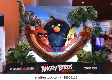 Bangkok, Thailand - May 2, 2016: The Angry Birds Movie Standee at Siam Paragon Shopping Center