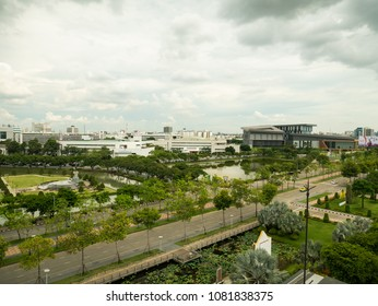 Bangkok, Thailand - May 2, 2018:The new headquarters of CAT telecom public company limited in Thailand CAT telecom is a large internet network service provider in Thailand.