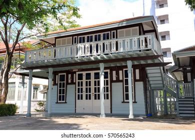 BANGKOK, THAILAND- MAY 20, 2012: Phayathai Palace (Wang Phaya Thai) Construction of Phayathai Palace began in 1909. It was built at King Rama V, is on the banks of the Samsen Canal on Rajvithi Road