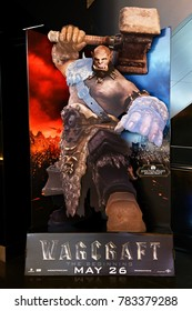 Bangkok, Thailand - May 20, 2016: Beautiful Standee of Warcraft at the theater
