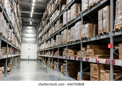 Bangkok, Thailand - May 20, 2017: inside IKEA warehouse in IKEA branch in Thailand.