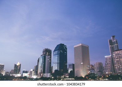 BANGKOK, THAILAND, MAY 2013: View image of city and building downtown at bangkok,  Thailand