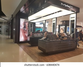 BANGKOK, THAILAND - May 2017:  Exterior view of MAC Cosmetics Shop  in Central department store. MAC Cosmetics was founded in Toronto, Ontario, Canada in 1984.