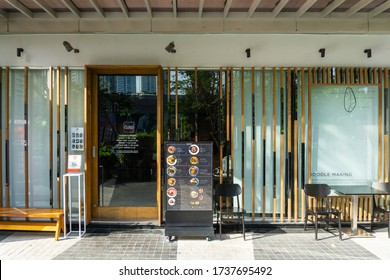 BANGKOK, THAILAND - May 21, 2020 : Japanese restaurant in Thailand Located on Sukhumvit Road, very popular with Thai and Japanese people who live in Thailand.