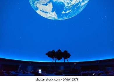 BANGKOK, THAILAND - MAY 21: Planetarium in Bangkok, Thailand on May 21, 2017. Zeiss Mark IV, a 51-year old projector will be discharged and replaced by a modern planetarium at Bangkok Planetarium
