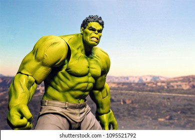 Bangkok, Thailand - May 21,2018- Good Smile Company, the Japanese figure/model manufacturer, launch action figure series Figma, base on famous Marvel's character the incredible Hulk