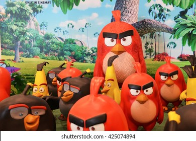 "Bangkok, Thailand - May 22, 2016: The Human Size ""Red"" Angry Birds Model To Promote The Movie at Central East Ville Shopping Center"